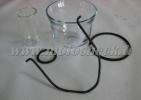 Zetor25_air/fuel filter glass bowl + holder