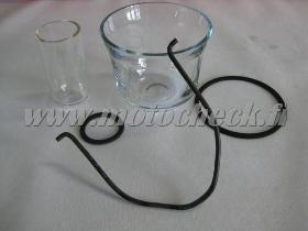 Zetor25_luftrenar glasskål+hållare, bränsleglas